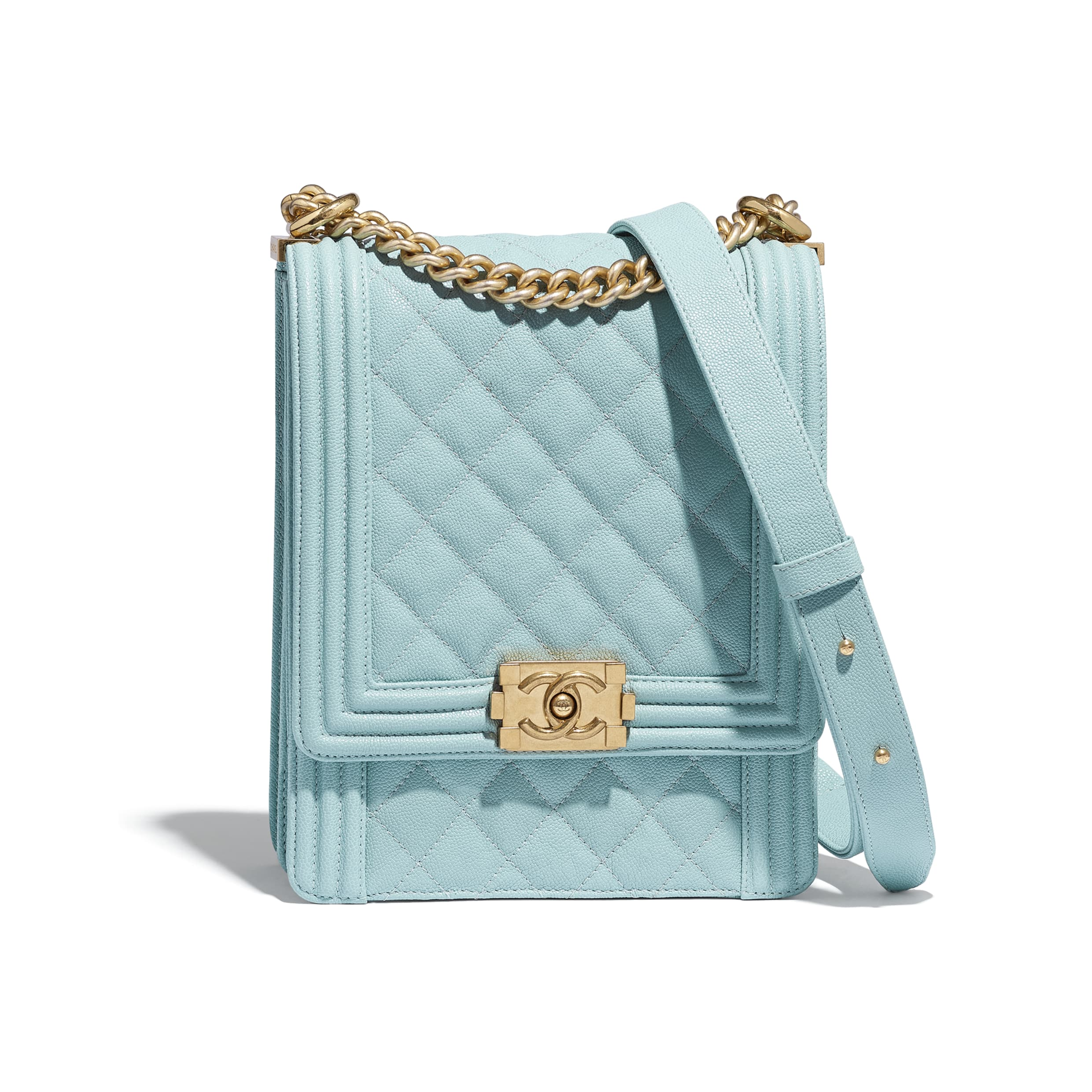 CHANEL Light Blue Boy Bag Not A Black Friday Replica 130